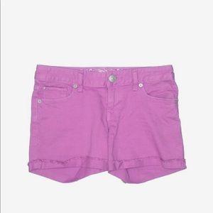 Purple denim express shorts 12